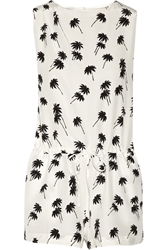Band Of Outsiders Printed Silk Crepe Playsuit