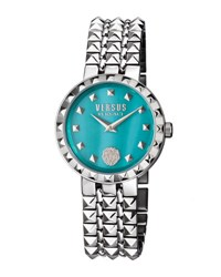 Versus By Versace Coral Gables Round 36Mm Turquoise Mop Women's Watch