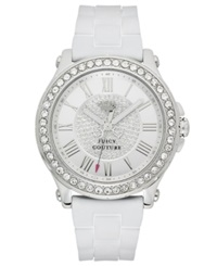 Juicy Couture Watch Women's Pedigree White Silicone Strap 38Mm 1901051