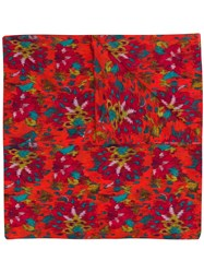 Twin Set Abstract Print Scarf Red