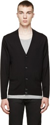 Marc By Marc Jacobs Black And Grey Colorblock Cardigan