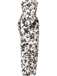 Bambah Floral Pencil Gown White