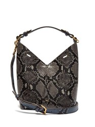 Anya Hindmarch Build A Bag Python Effect Mini Leather Tote Bag Blue Multi