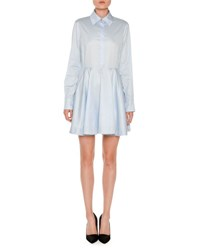 Stella Mccartney Long Sleeve Poplin Mini Shirtdress Light Blue