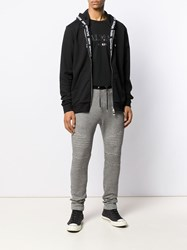 Balmain Logo Patch Jogging Trousers Black