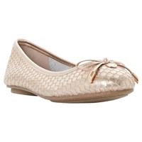 Dune Hype Bow Ballet Pumps Rose Gold