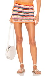 Lovers Friends Over The Rainbow Skirt Orange