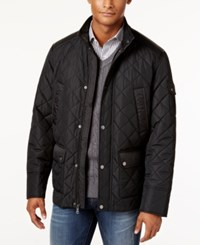 Sean John Stand Collar Quilted Coat Black