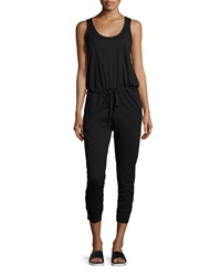 W By Wilt Scoop Neck Sleeveless Cropped Jumpsuit Black