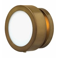 Hinkley Mercer Wall Sconce 3650Hb Heritage Brass Brown