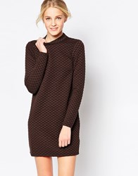 Jdy Long Sleeve Bodycon Dress Brown