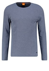 Boss Orange Terris Slim Fit Long Sleeved Top Navy Dark Blue