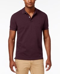 Brooks Brothers Red Fleece Men's Pique Knit Cotton Polo Dark Red