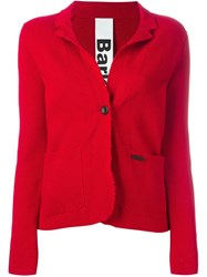 Bark Knit Blazer Red