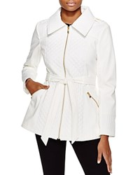 Via Spiga Belted Soft Shell Jacket Summer White