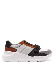 Burberry Regis Raised Sole Low Top Trainers Grey