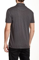7 For All Mankind Raw Placket Polo Gray