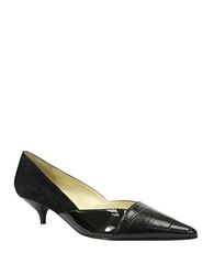 Tahari Fressia Leather Pumps Black