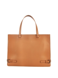 Tomas Maier Leather Buckle Tote