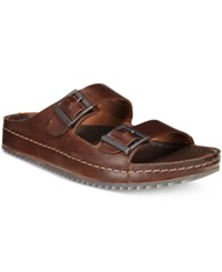 Clarks Men's Netrix Free Sandals Men's Shoes Brown Leather