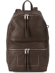 Rick Owens Tall Backpack Brown