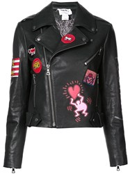 Alice Olivia Cody Biker Jacket Black