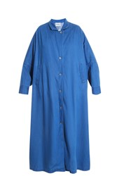 Rachel Comey Zia Denim Trench Coat Blue