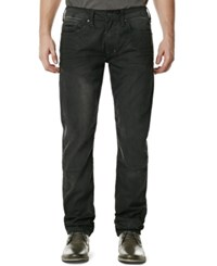 Buffalo David Bitton Men's Stretch Ash X Super Skinny Fit Faded Black Wash Jeans Dark And Repaired
