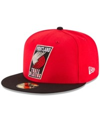 New Era Portland Trail Blazers 2 Tone Team 59Fifty Cap Red Black