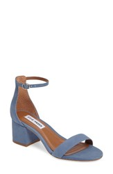 Steve Madden Women's 'Irenee' Ankle Strap Sandal Blue Nubuck Leather