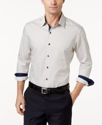 Tasso Elba Men's Pinstriped Shirt Only At Macy's Taupe Combo