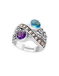 Effy Amethyst Topaz And 18K Gold Plated Sterling Silver Ring