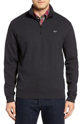 Vineyard Vines Men's Quarter Zip Sweater Charcoal Heather