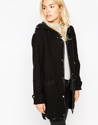 See U Soon Parka With Detachable Quilted Lining Black