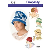 Simplicity Hats In Three Sizes Sewing Leaflet 1736 A
