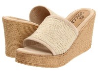 Sbicca Blondie Natural Women's Wedge Shoes Beige