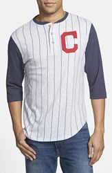Men's Red Jacket 'Cleveland Indians Double Play' Jersey Henley