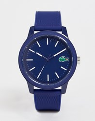 Lacoste. 12.12 Silicone Watch In Blue