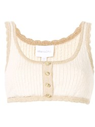 Alice Mccall Heaven Help Cropped Top White