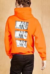 Forever 21 Human Condition 1984 Hoodie Orange Black