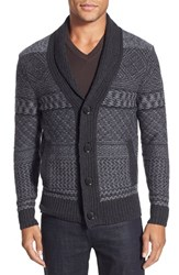 Men's Boss 'Ernestino' Wool And Cashmere Jacquard Shawl Collar Cardigan