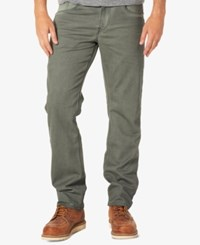 Silver Jeans Co. Men's Eddie Relaxed Fit Tapered Stretch Olive
