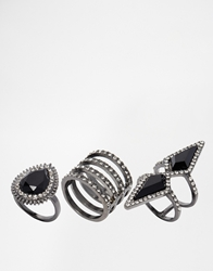 Aldo Mcelmurray Rhinestone Ring Multipack Black