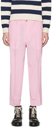 Gucci Pink Short Loose Trousers