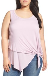 Democracy Plus Size Women's Knot Front Asymmetrical Tank