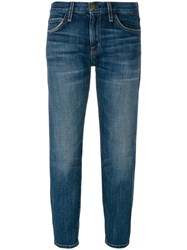 Current Elliott Cropped Fitted Jeans Blue
