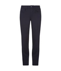 Stefano Ricci Five Pocket Suede Trim Trousers Navy