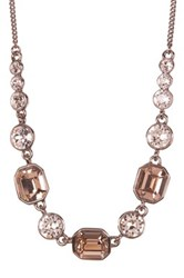Givenchy Square Crystal Necklace Brown
