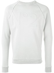 N 21 No21 Logo Sweatshirt Men Cotton Polyamide L Grey