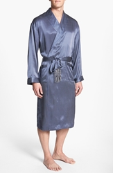 Majestic International 'Cypress' Silk Robe Navy